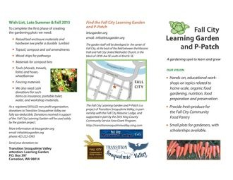 Learning Garden brochure